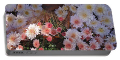 Portable Battery Charger featuring the photograph Pink Mum by Joseph Yarbrough