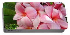 Pink Plumerias Portable Battery Charger