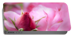 Portable Battery Charger featuring the photograph Pink Rose by Jeannette Hunt