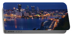 Pittsburgh In Blue Portable Battery Charger