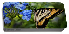 Plumbago And Swallowtail Portable Battery Charger