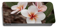 Plumeria   Kona Hawii Portable Battery Charger by James Steele