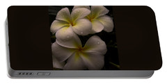 Plumeria Portable Battery Charger by Dorothy Cunningham