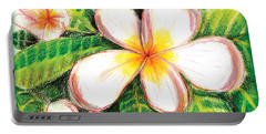 Plumeria With Foliage Portable Battery Charger