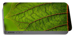 Poinsettia Leaf I Portable Battery Charger