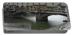 Portable Battery Charger featuring the photograph Ponte Vecchio by Laurel Best