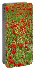 Poppies In Rye Portable Battery Charger