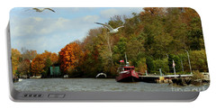 Portable Battery Charger featuring the photograph Port Dover Harbour by Barbara McMahon