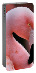 Portrait Of A Flamingo Portable Battery Charger