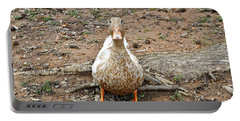 Portable Battery Charger featuring the photograph Portrait Of An Alabama Duck by Verana Stark