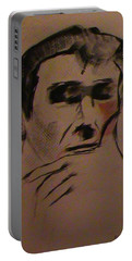 Portable Battery Charger featuring the painting Portrait Of Frank Frazetta by George Pedro
