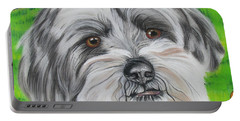 Portrait Of Terrier Portable Battery Charger