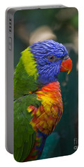 Posing Rainbow Lorikeet. Portable Battery Charger