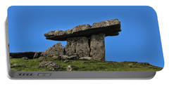 Portable Battery Charger featuring the photograph Poulnabrone Dolmen by David Gleeson