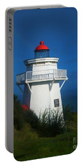 Portable Battery Charger featuring the photograph Pouto Lighthouse With Rainbow New Zealand by Mark Dodd