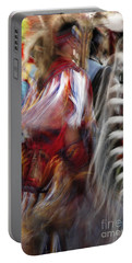 Portable Battery Charger featuring the photograph Pow Wow Dancer by Vivian Christopher