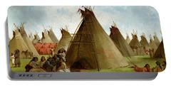 Prairie Indian Encampment Portable Battery Charger