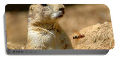 Prarie Dog Bee Alert Portable Battery Charger by LeeAnn McLaneGoetz McLaneGoetzStudioLLCcom