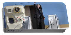 President George Bush Waves Good-bye Portable Battery Charger by Stocktrek Images