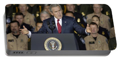 President George W. Bush Speaks Portable Battery Charger by Stocktrek Images