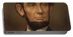 Portable Battery Charger featuring the photograph President Of The United States Of America - Abraham Lincoln  by International  Images