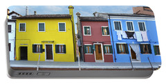Portable Battery Charger featuring the photograph Primary Colors In Burano Italy by Rebecca Margraf
