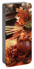 Pumpkin Leaf Decor Portable Battery Charger