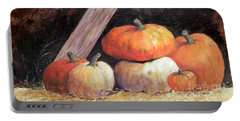 Pumpkins In Barn Portable Battery Charger