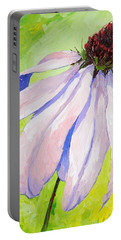 Purple Coneflower Portable Battery Charger