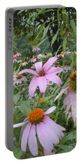 Purple Coneflowers Portable Battery Charger