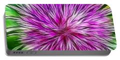 Purple Flower Fractal Portable Battery Charger