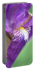 Portable Battery Charger featuring the photograph Purple Iris by JD Grimes