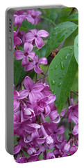 Purple Lilac Portable Battery Charger by Laurel Best