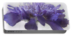Portable Battery Charger featuring the photograph Purple Pincushin by Debbie Portwood