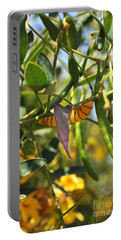 Purple Pink Green Chrysalis  Portable Battery Charger