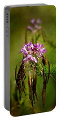 Portable Battery Charger featuring the photograph Purple Pizzazz by Vicki Pelham