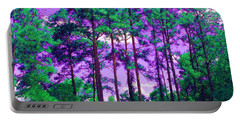 Portable Battery Charger featuring the photograph Purple Sky by George Pedro