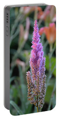 Purple Spear Portable Battery Charger by Bonnie Myszka
