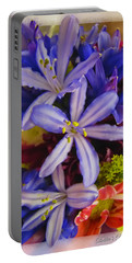 Portable Battery Charger featuring the photograph Purple Stars by Debbie Portwood