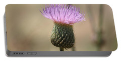 Portable Battery Charger featuring the photograph Purple Thistle by Donna  Smith