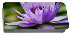 Purple Petals Water Lily Portable Battery Charger