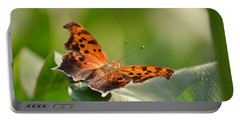 Portable Battery Charger featuring the photograph Question Mark Butterfly by JD Grimes
