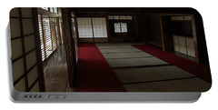 Quietude Of Zen Meditation Room - Kyoto Japan Portable Battery Charger