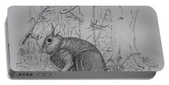 Rabbit In Woodland Portable Battery Charger