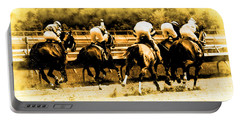 Portable Battery Charger featuring the photograph Race To The Finish Line by Alice Gipson