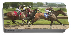 Portable Battery Charger featuring the photograph Racetrack Views by Alice Gipson