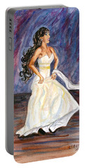 Portable Battery Charger featuring the painting Rachel by Clara Sue Beym