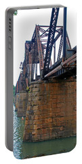 Portable Battery Charger featuring the photograph Railroad Bridge 2 by Kay Lovingood