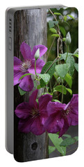 Rain Kissed Clematis  Portable Battery Charger
