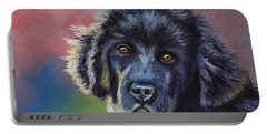 Rainbows And Sunshine - Newfoundland Puppy Portable Battery Charger